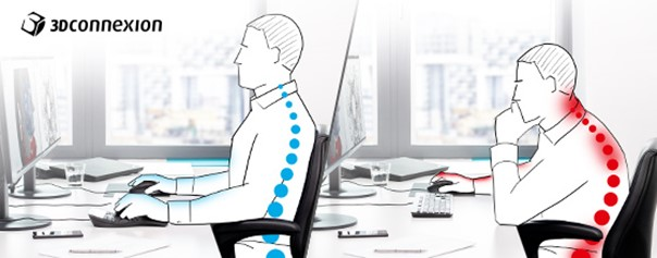 posición correcta de espalda diseñador cad 3d
