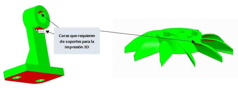 Problemas impresión 3d - evitar partes colgantes con la herramienta Contrasalidas