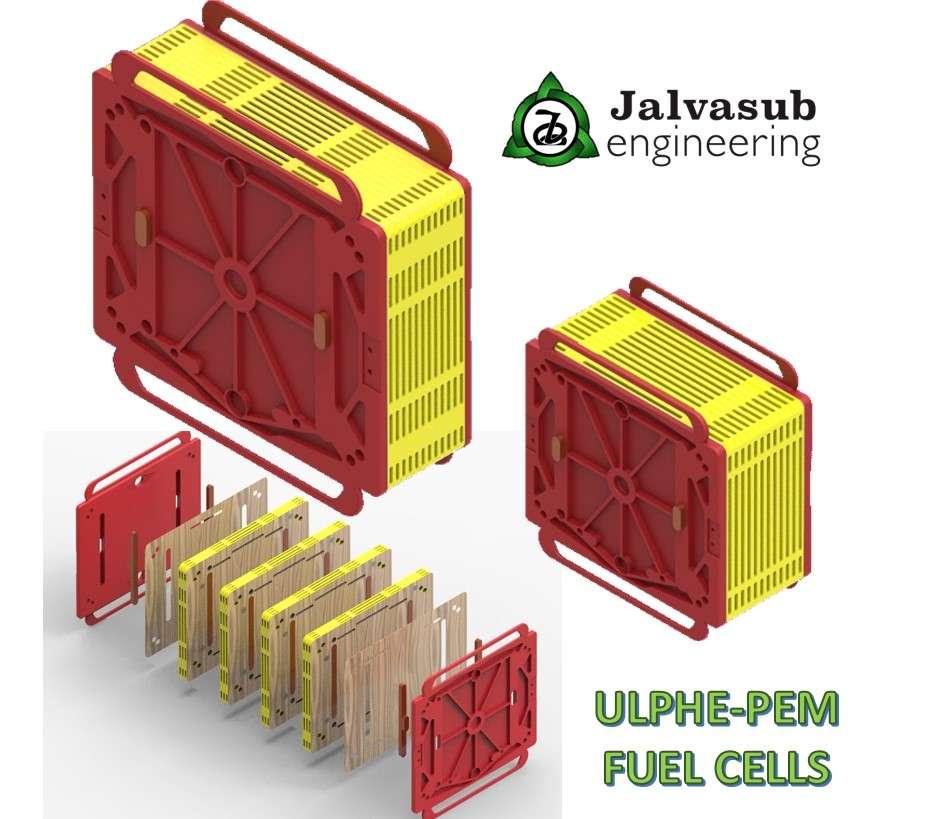 baterías ulphe pem diseñadas con solid edge y solid edge floefd